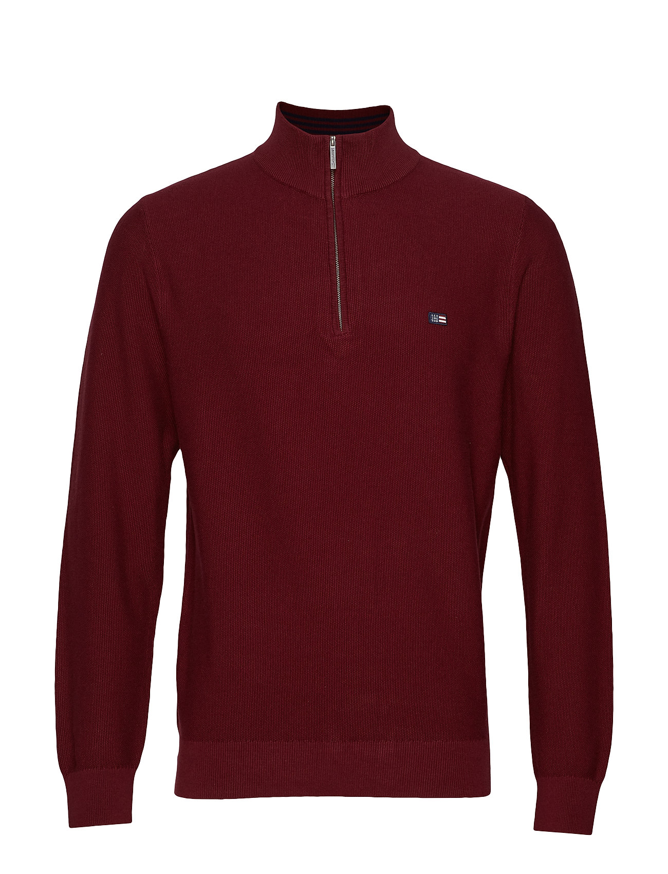 Lexington Clothing Clay Half Zip Sweater - DARK RED