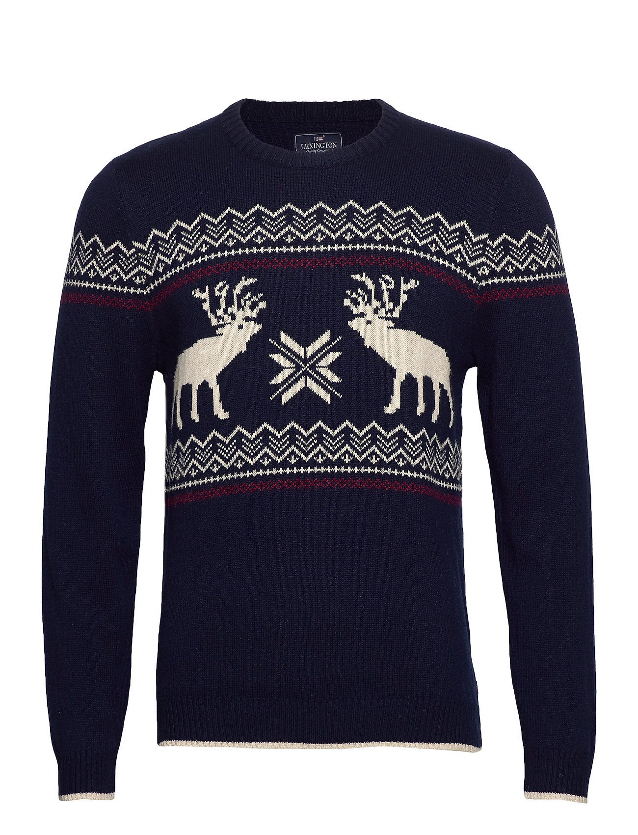 Lexington Clothing Jim Holiday Sweater - DARK BLUE