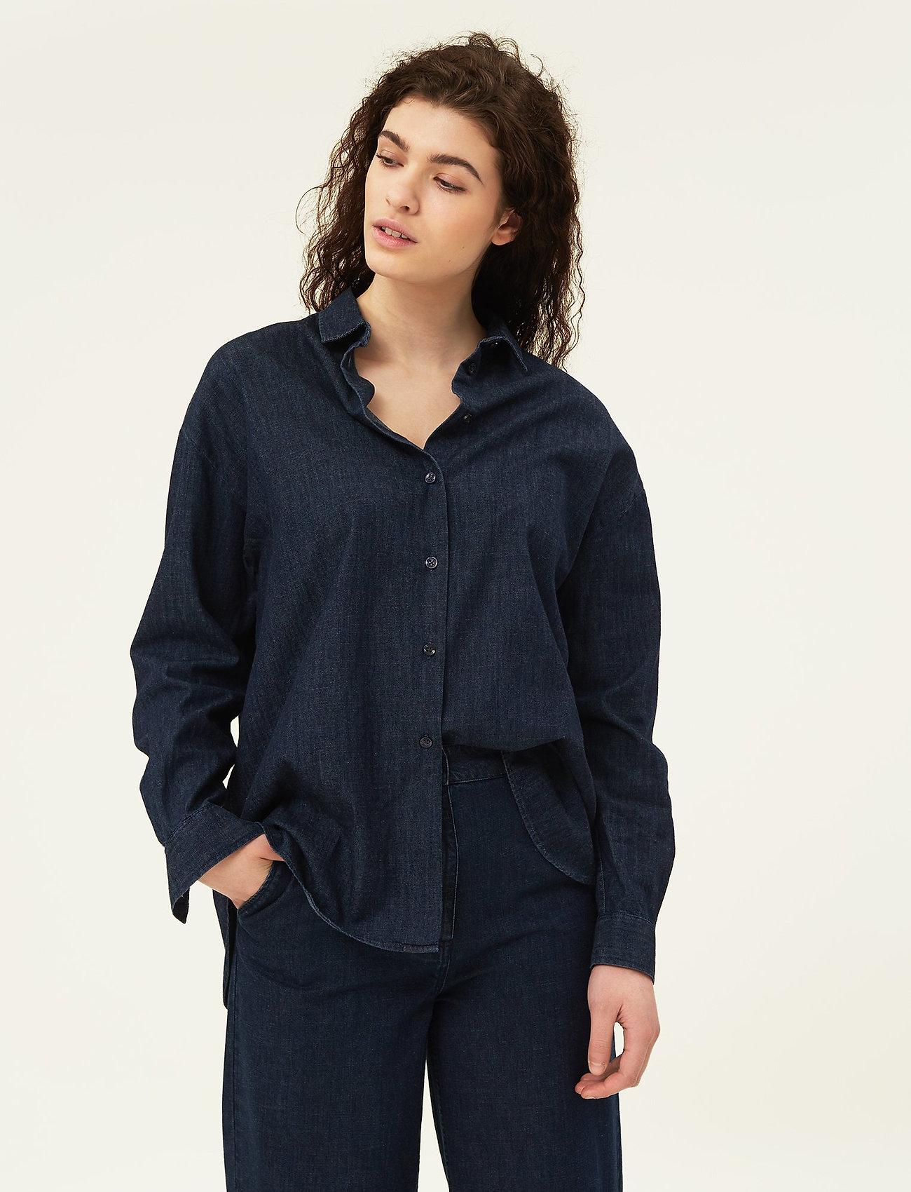 Lexington Clothing - Edith Denim Shirt - jeansblouses - dark blue denim - 0