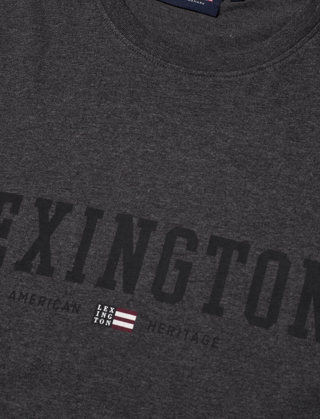 Lexington Clothing Justin Tee - T-skjorter DARK GRAY MELANGE - Menn Klær