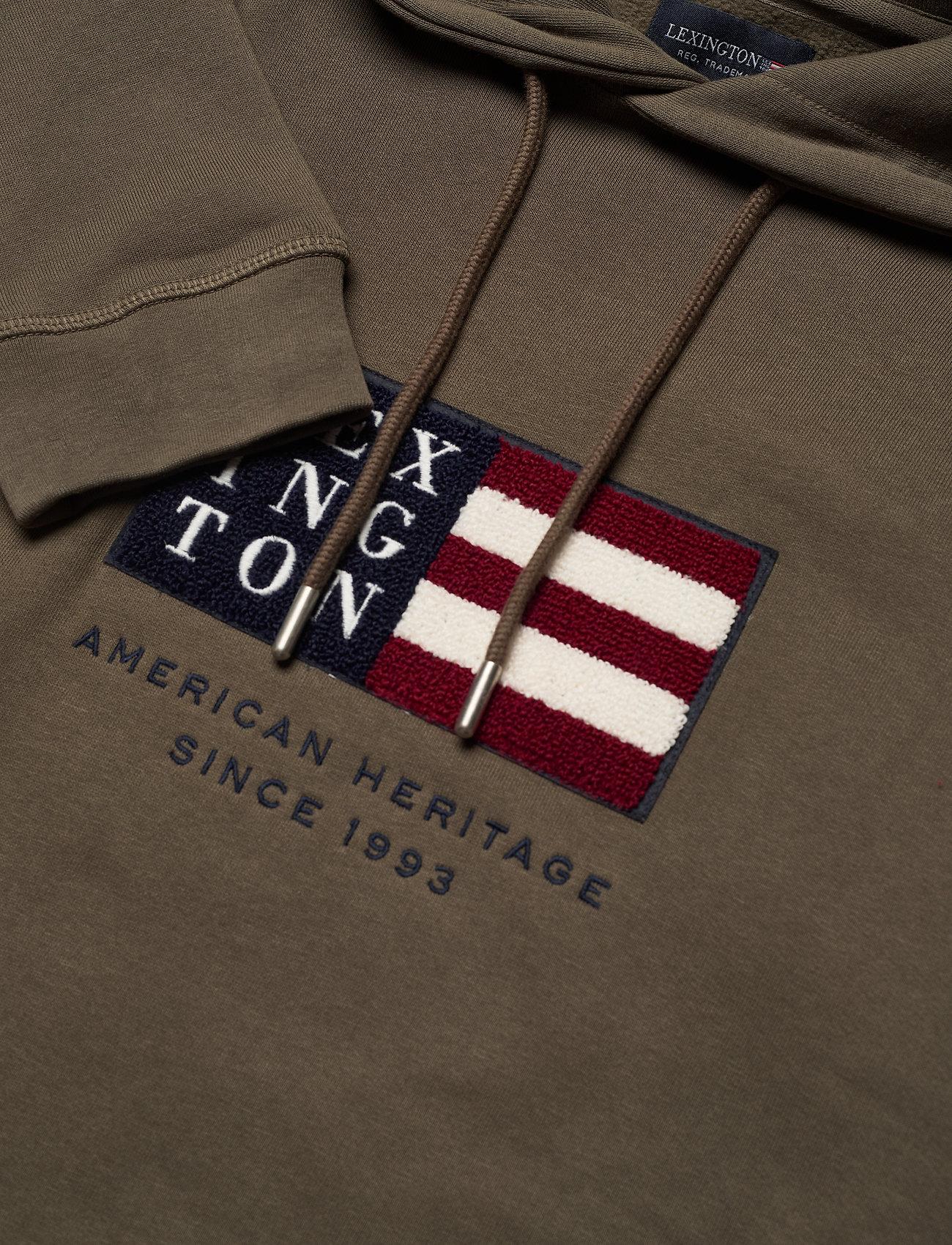 Lexington Clothing Perry Organic Cotton Hood - Sweatshirts GREEN - Menn Klær