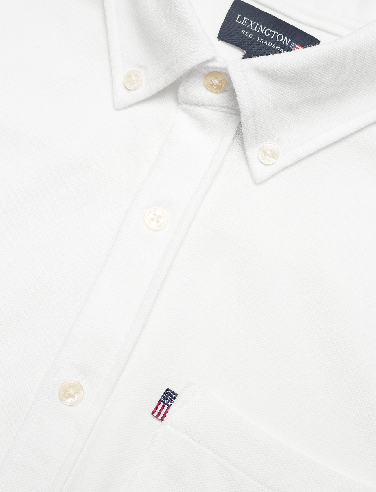 Lexington Clothing - Brett Organic Cotton Pique Shirt - chemises à carreaux - white - 6