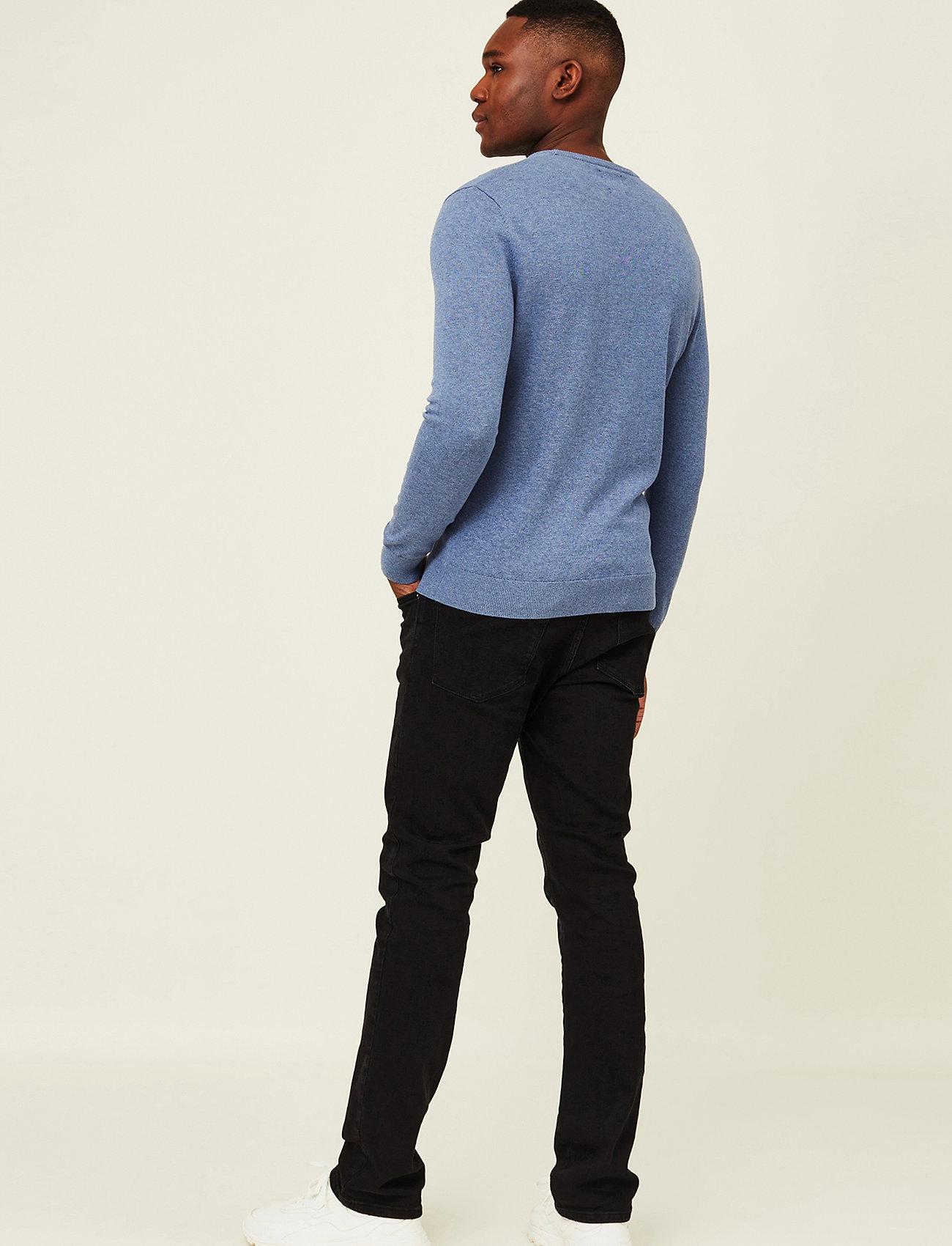 Lexington Clothing - Bradley Organic Cotton Crew Neck Sweater - basic gebreide truien - blue melange - 3