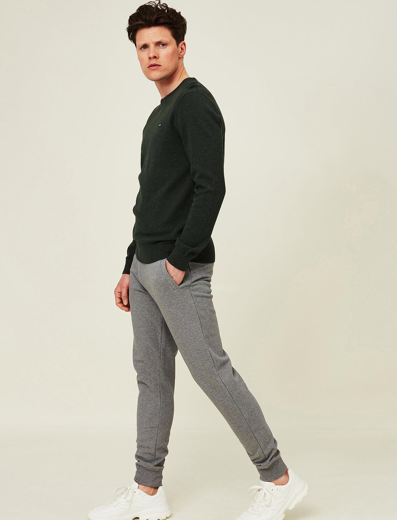Lexington Clothing - Bradley Organic Cotton Crew Neck Sweater - basic gebreide truien - green melange - 0