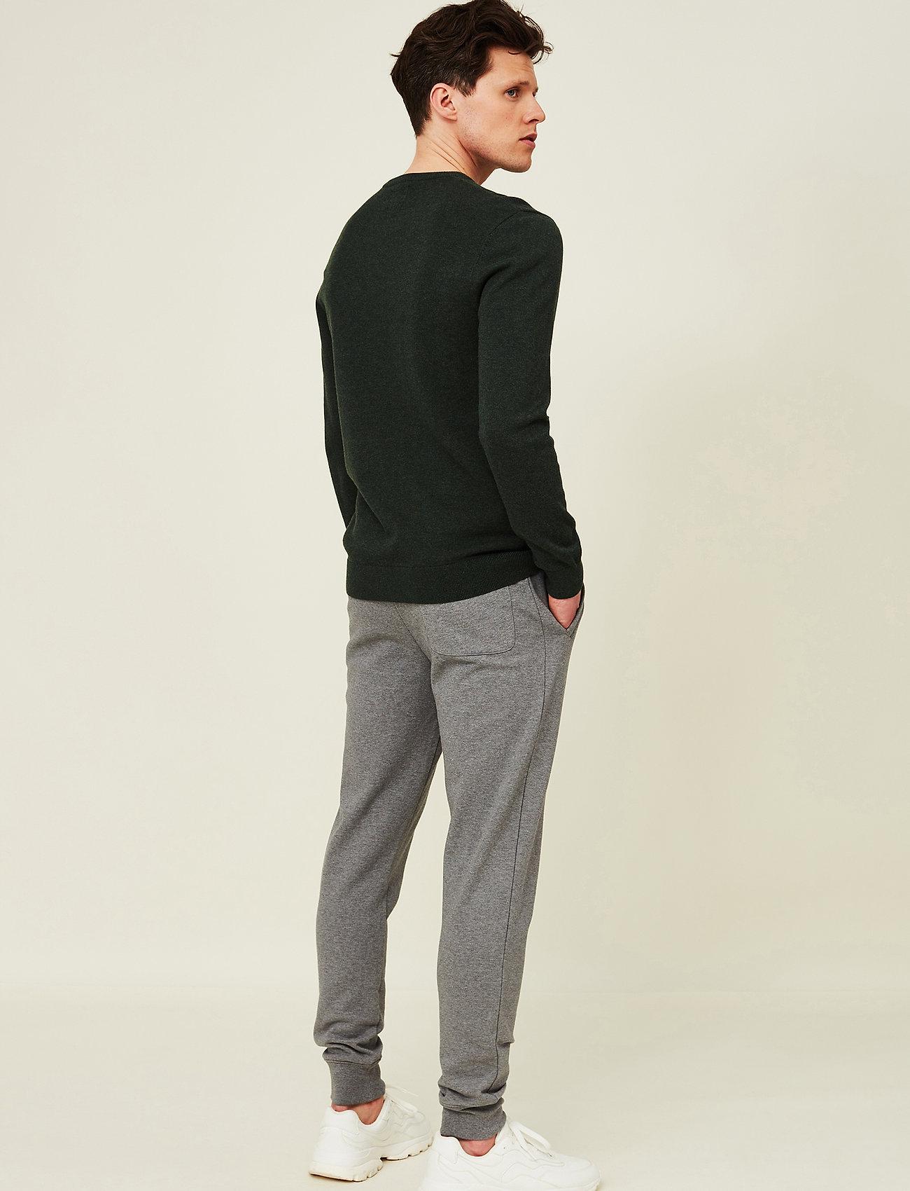 Lexington Clothing - Bradley Organic Cotton Crew Neck Sweater - basic gebreide truien - green melange - 3