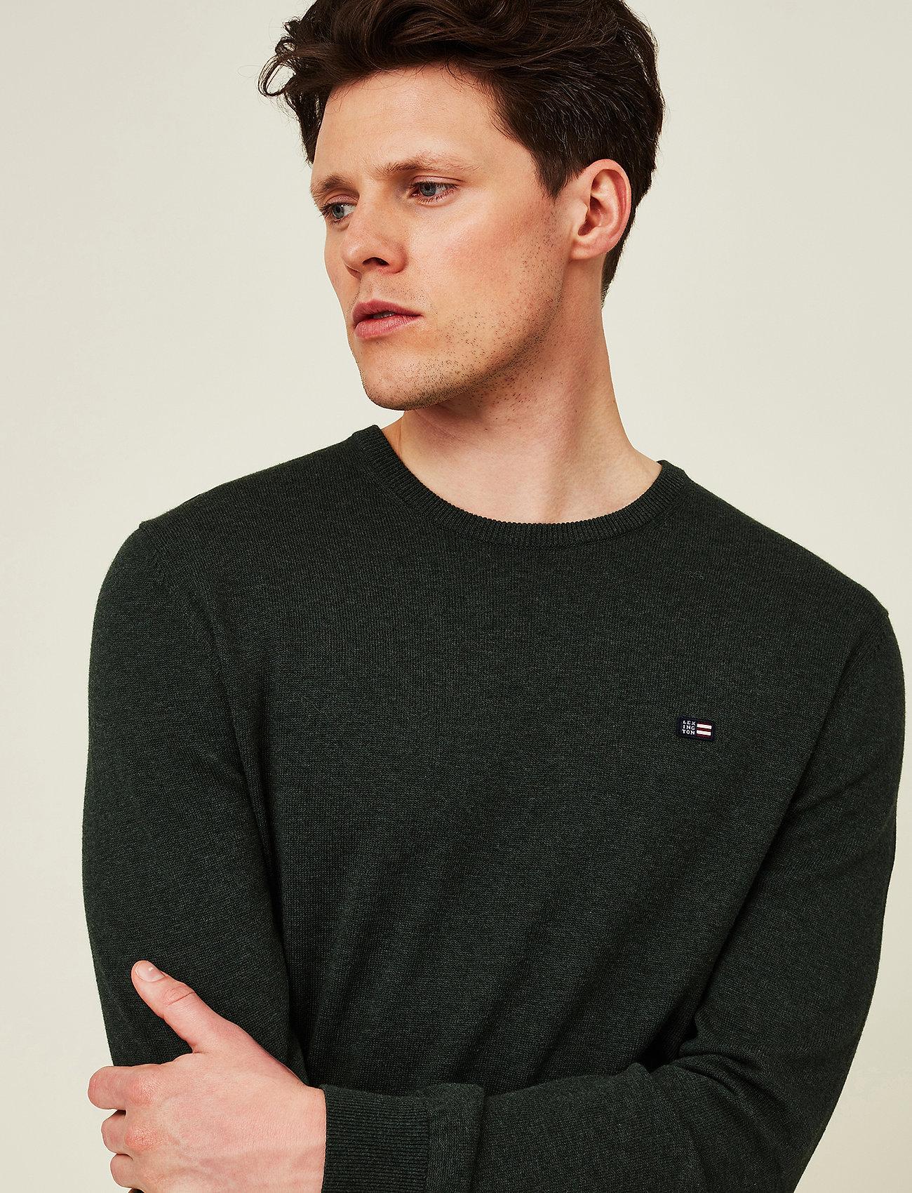 Lexington Clothing - Bradley Organic Cotton Crew Neck Sweater - basic gebreide truien - green melange - 4
