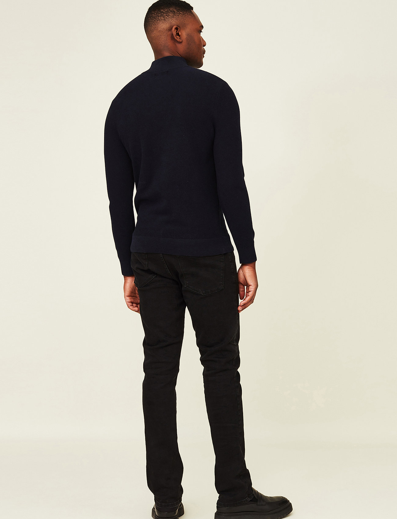 Lexington Clothing - Clay Organic Cotton Half Zip Sweater - truien met halve rits - dark blue - 3