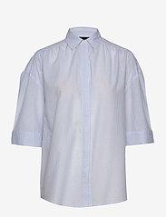 Lexington Clothing - Olympia Shirt - overhemden met korte mouwen - blue/white stripe - 0