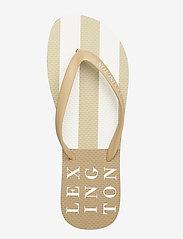 Lexington Clothing - Orlando Flipflop - teen slippers - beige/white stripe - 3