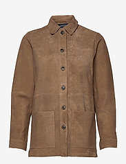 Lexington Clothing - Kathy Suede Worker Shirt - overshirts - brown - 1
