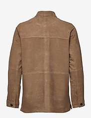 Lexington Clothing - Kathy Suede Worker Shirt - overshirts - brown - 2