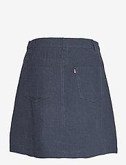 Lexington Clothing - Stella Linen Skirt - korta kjolar - dark blue - 2