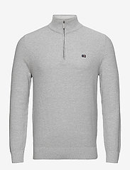 Lexington Clothing - Clay Organic Cotton Half Zip Sweater - half zip - light grey melange - 1
