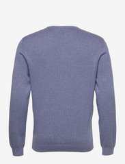 Lexington Clothing - Bradley Organic Cotton Crew Neck Sweater - basic gebreide truien - blue melange - 2