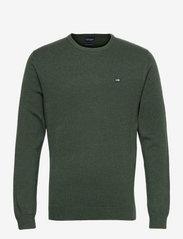 Bradley Organic Cotton Crew Neck Sweater - GREEN MELANGE