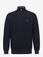 Clay Organic Cotton Half Zip Sweater - DARK BLUE