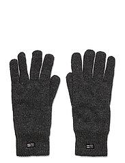 Cordwood Lambswool Gloves - DARK GRAY MELANGE