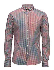 Peter Lt Oxford Shirt - RED/BLUE/WHITE CHECK