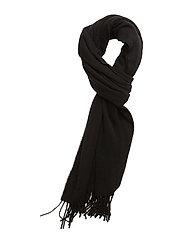 Massachusetts Wool Scarf - CAVIAR BLACK