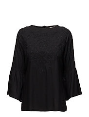 Heidi Embroidered Blouse - Caviar Black