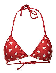 Stephanie Bikini Top - Red Star Print