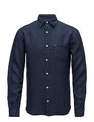 Ryan Linen Shirt - Deepest Blue