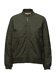 Greta Quilted Jacket - BOTTLE GREEN