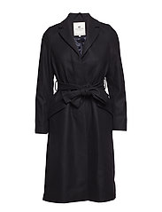 Heather Coat - CAVIAR BLACK