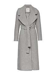 Mila Long Coat - HEATHER GRAY MELANGE