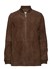 Nova Suede Jacket - DARK BROWN