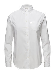 Sarah Oxford Shirt - BRIGHT WHITE