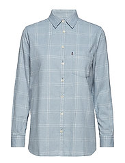 Isa Flannel Shirt - BLUE/WHITE CHECK