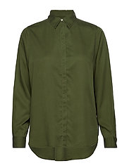 Vanja Lyocell Shirt - BOTTLE GREEN