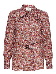 Janina Red Flower Blouse - RED FLOWER PRINT