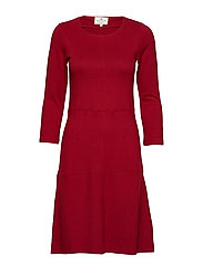 Michaela Jersey Dress - RED DAHLIA