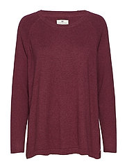 Lea Sweater - ROSEWOOD RED