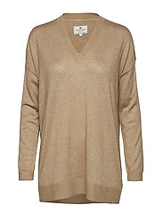 Ana Cotton Bamboo Sweater - CAMEL