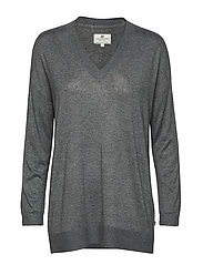 Ana Cotton Bamboo Sweater - HEATHER GRAY MELANGE