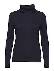 Francoise Roll Neck Sweater - DEEP MARINE BLUE