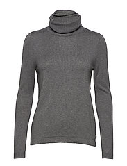 Francoise Roll Neck Sweater - HEATHER GRAY MELANGE
