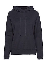 June Knitted Hoodie - DEEP MARINE BLUE