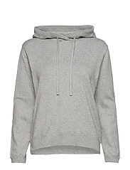 June Knitted Hoodie - LT WARM GRAY MELANGE
