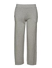 Des Knitted Track Pants - LT WARM GRAY MELANGE