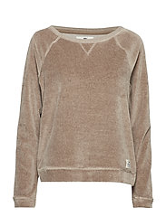 Martha Velour Sweater - BEIGE MELANGE