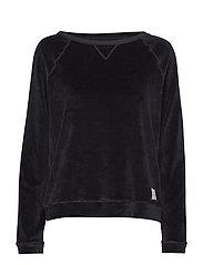 Martha Velour Sweater - CAVIAR BLACK