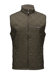 Gregory Quilted Vest - HUNTER GREEN