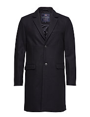 Larry Navy Wool Overcoat - DEEP MARINE BLUE