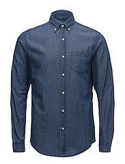 Clive Denim Shirt - MEDIUM BLUE DENIM