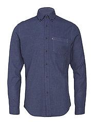 Peter Lt Flannel Shirt - INDIGO