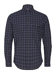 Aaron Checked Shirt - BLUE/BLACK CHECK